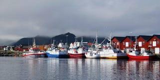 La pêche se transporte dans le port - Andenes, Norvège photo libre de droits