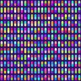 La píldora multicolora encapsula el fondo inconsútil Vector Eps10 Fotografía de archivo libre de regalías