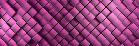 La púrpura desplazada cubica el fondo de la bandera Ilustración del Vector