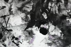 La púrpura lamentable creativa pintó aleatoriamente la lona, tela con los puntos de la pintura del color y borra la textura para  stock de ilustración