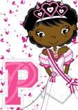 La P è per principessa Fotografia Stock Libera da Diritti