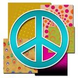 La pace cede firmando un documento i vari ambiti di provenienza Colourful illustrazione di stock