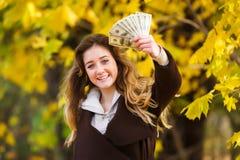 La paga del primo adolescente Immagini Stock