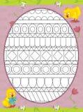 La page avec des exercices pour des enfants - Pâques Photos stock