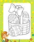 La page avec des exercices pour des enfants - Pâques illustration stock
