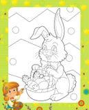 La page avec des exercices pour des enfants - Pâques Photo stock