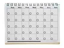 La page du calendrier Photos libres de droits