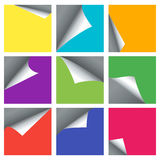 La page vide a courbé des milieux de vecteur de coins pour les bannières 3d Photo stock
