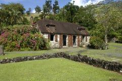 La Pagerie博物馆在列斯Trois Ilets在马提尼克岛 库存照片