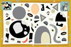 La pagina con gli esercizi per i bambini - azienda agricola - illustrazione per i bambini Fotografie Stock