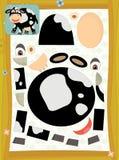 La pagina con gli esercizi per i bambini - azienda agricola - illustrazione per i bambini Immagine Stock