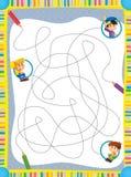 La pagina con gli esercizi per i bambini - illustrazione per i bambini Fotografia Stock Libera da Diritti
