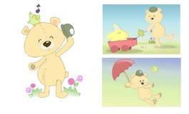 la pagina dell'orso ha farcito Fotografie Stock Libere da Diritti