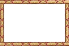 La pagina di arte antica tailandese Immagine Stock