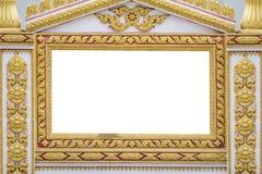 La pagina di arte antica tailandese Immagini Stock