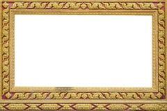 La pagina di arte antica tailandese Fotografia Stock