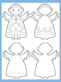 La pagina di coloritura con il modello - illustrazione per i bambini Fotografia Stock