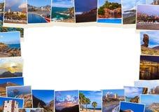 La pagina ha fatto delle immagini color giallo canarino di Tenerife le mie foto Immagine Stock Libera da Diritti