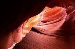 La pagina più bassa del canyon dell'antilope Fotografie Stock