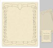 La paginación con la antigüedad labró decoraciones Imágenes de archivo libres de regalías