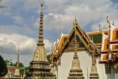 La pagoda è in Wat Pho Bangkok Thailand fotografie stock libere da diritti