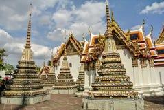 La pagoda è in Wat Pho Bangkok Thailand immagini stock