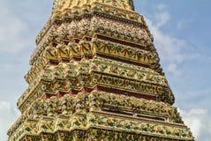La pagoda è in Wat Pho Bangkok Thailand fotografia stock