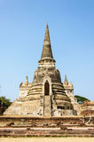 La pagoda antique de palais à Ayutthaya, Thaïlande Photos stock