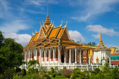 La pagoda argentée à Phnom Penh image stock