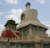 La pagoda bianca al parco di Beihai Fotografia Stock