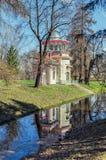La pagoda chinoise de grincement dans Catherine Park dans Tsarskoye Selo Photographie stock