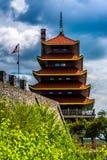 La pagoda dans la lecture, Pennsylvanie photos stock