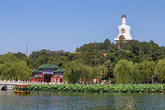 La pagoda de blanc de stationnement de Pékin Beihai Photo libre de droits