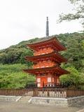 La pagoda de Kiyomizu-dera Imágenes de archivo libres de regalías