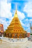 La pagoda de oro hermosa antigua Foto de archivo