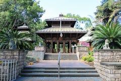 La pagoda de paix du Népal dans les espaces verts du sud de banque, Brisbane, Austra images stock