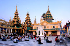 La pagoda de Shwedagon Photos libres de droits