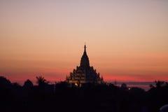 La pagoda de Swal Daw à Yangon Images libres de droits