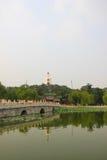 La pagoda di bianco del parco di Pechino Beihai Fotografia Stock Libera da Diritti