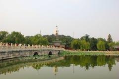 La pagoda di bianco del parco di Pechino Beihai Fotografie Stock Libere da Diritti