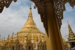 La pagoda di Shwedagon Immagini Stock Libere da Diritti