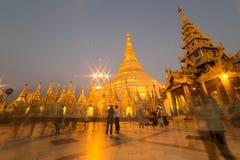 La pagoda di Shwedagon, Rangoon, Myanmar Fotografie Stock Libere da Diritti