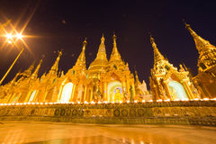 La pagoda di Shwedagon, Rangoon, Myanmar Fotografia Stock Libera da Diritti