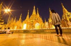 La pagoda di Swedagon, Rangoon, Myanmar Fotografia Stock