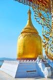 La pagoda dorata in Bagan, Myanmar fotografie stock