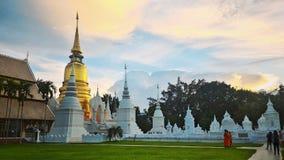 La pagoda du temple de Suandok Images libres de droits