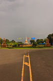 La pagoda en Mahasarakham Imagenes de archivo