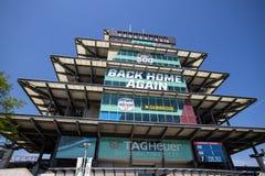 La pagoda a Indianapolis Motor Speedway L'IMS prepara per il Indy 500 X immagine stock libera da diritti