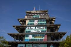 La pagoda a Indianapolis Motor Speedway E fotografia stock libera da diritti