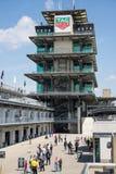 La pagoda a Indianapolis Motor Speedway L'IMS prepara per il Indy 500 XI immagini stock